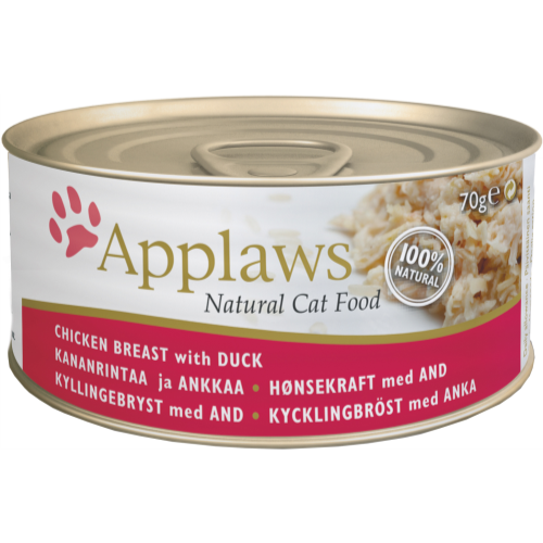 Applaws Chicken & Duck Can Adult Cat Food 70g x 6