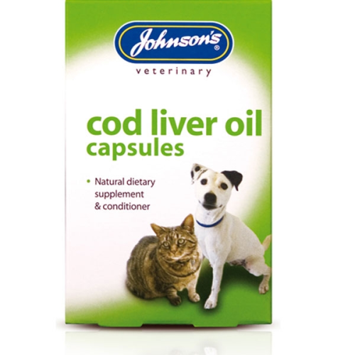 Johnsons Veterinary Dog and Cat Supplements Cod Liver Oil Capsules x 170