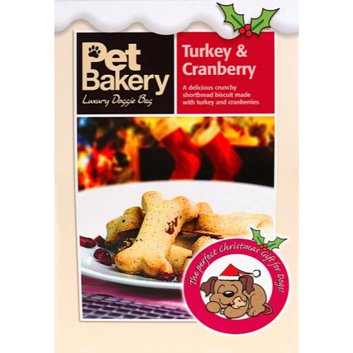 Pet Bakery Dog Treats Turkey & Cranberry Bones 240g