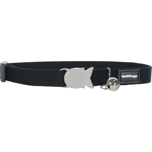 Red Dingo Cat Collar Plain Classic Black
