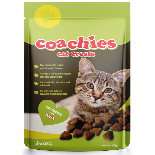 Coachies Hair Ball Prevention Cat Treats 65g Joint Mobility with Tuna