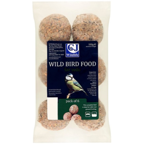 CJ Wildlife Fatballs Wild Bird Food 6 pack