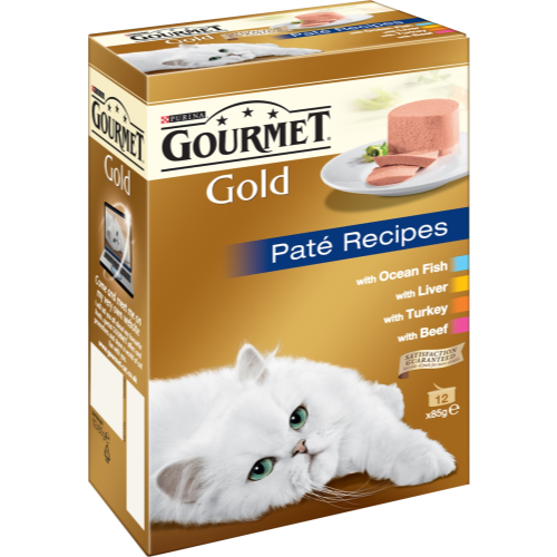 Gourmet Gold Pate Recipes Cat Food 85g x 12