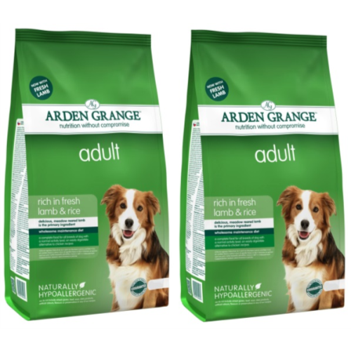 Arden Grange Lamb & Rice Adult Dog Food 12kg x 2