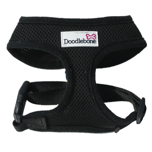 Doodlebone Mesh Dog Harness in Black Black Large