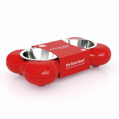 Hing Dog Bone Bowl Red Large