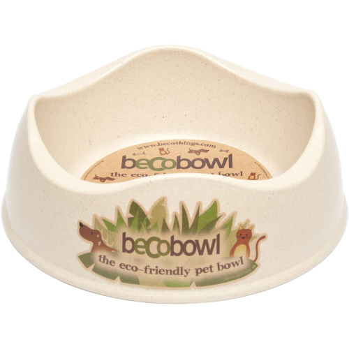 Becobowl Eco Friendly Dog Bowl Cream