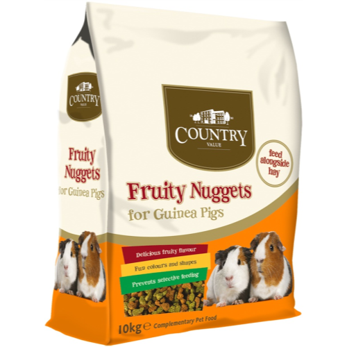 Country Value Fruity Nuggets for Guinea Pigs 10kg