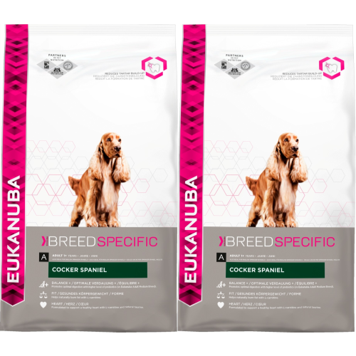 Eukanuba Cocker Spaniel Adult Dog Food 7.5kg x 2