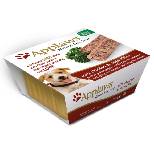 Applaws Pate Chicken With Vegetables Adult Dog Food 150g x 42