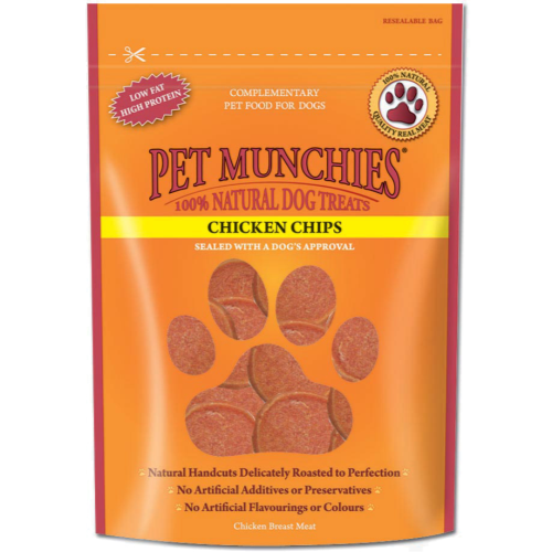 Pet Munchies Natural Dog Treats 100g - Chicken Chips