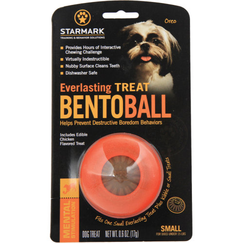 Starmark Everlasting Treat Bento Ball Dog Toy Small