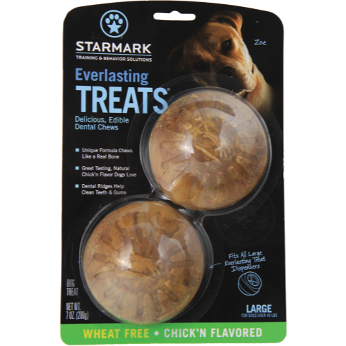 Starmark Everlasting Treat Ball Dog Toy Replacement Treats - Large