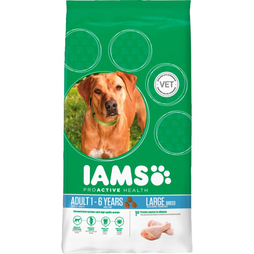 IAMS Chicken Large Breed Adult Dog Food 12kg