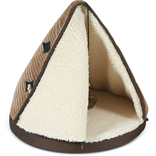 Tramps Teepee Cat Bed Tan