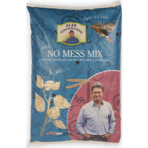 Alan Titchmarsh No Mess Seed Mix Wild Bird Food 2kg