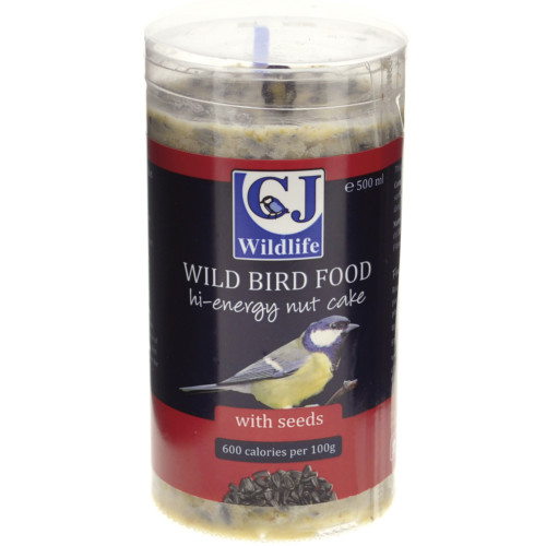 CJ Wildlife High Energy Peanut Cake Wild Bird Food 500ml with Seeds