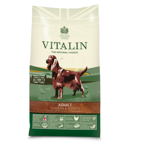 Vitalin Natural Chicken & Potato Adult Dog Food 12kg
