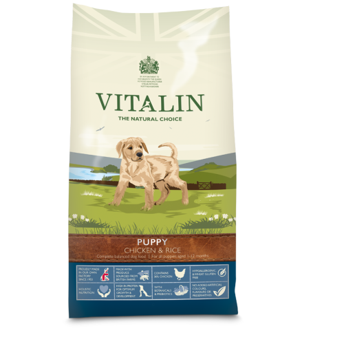 Vitalin Natural Chicken & Rice Puppy Food 12kg