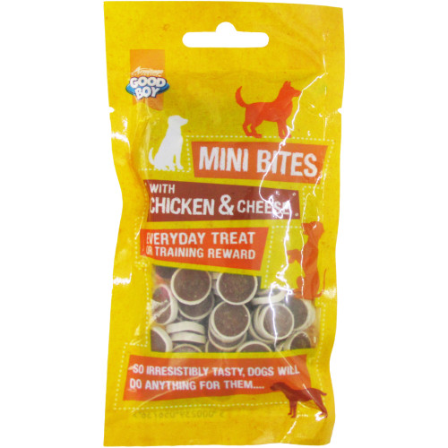 Good Boy Mini Bites Dog Treats Chicken & Cheese 70g