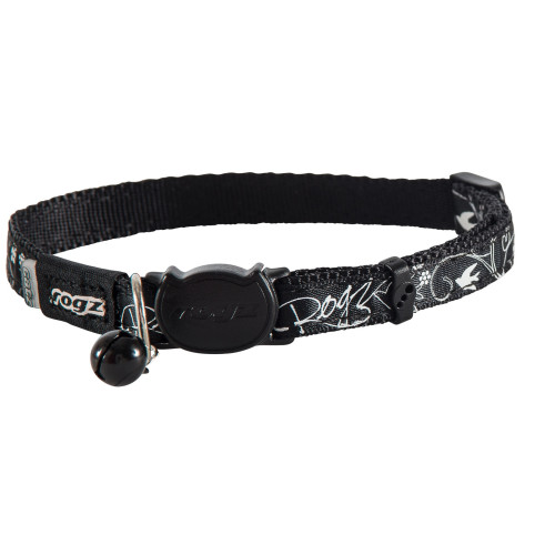 Rogz Catz Black Silky Cat Collar One Size