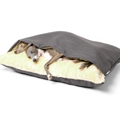 Charley Chau Luxury Weave Snuggle Dog Bed Slate - Medium