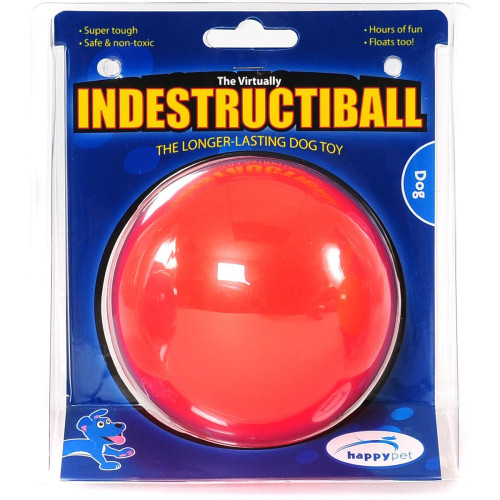 Happy Pet Indestructiball Dog Toy Red Small