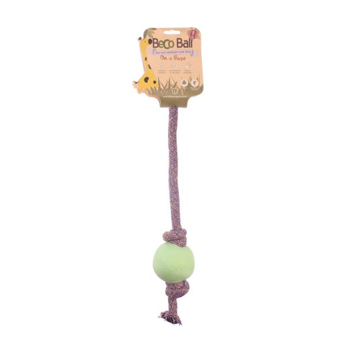 Beco Rope Eco Friendly Ball & Rope Dog Toy Large - Green