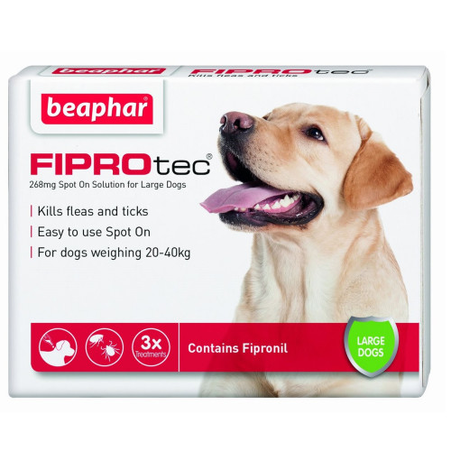 Beaphar FIPROtec Spot On for Dogs Large Dog 3 Pipettes