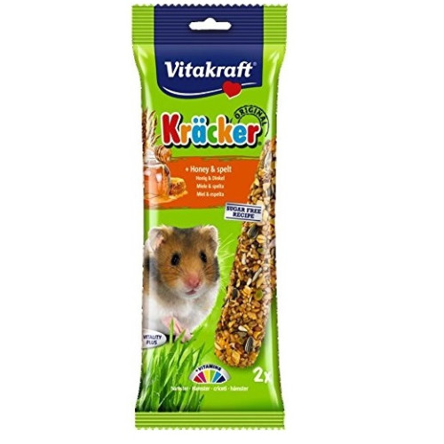 Vitakraft Kracker Hamster Honey Sticks 2 Pack