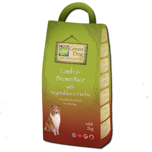 Greendog Lamb & Brown Rice Adult Dog Food 2kg