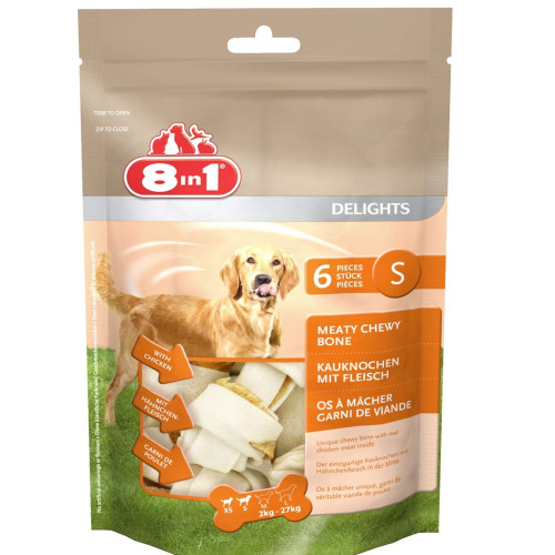8in1 Delights Chicken Dog Bones Small Value Bag