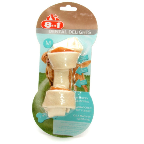 8in1 Dental Delights Chicken Dog Bones Medium