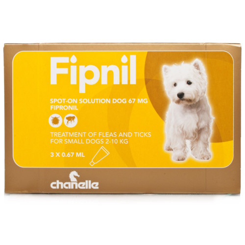 Fipnil Spot On Solution for Dogs Small Dog 2-10kg NFA-D