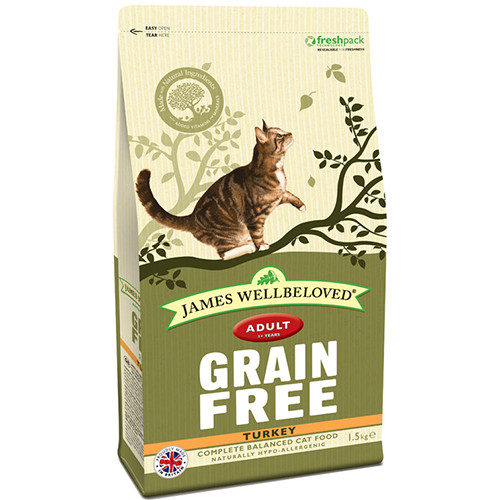 James Wellbeloved Grain Free Turkey Adult Cat Food 1.5kg