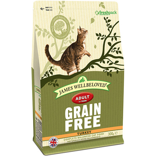James Wellbeloved Grain Free Turkey Adult Cat Food 300g