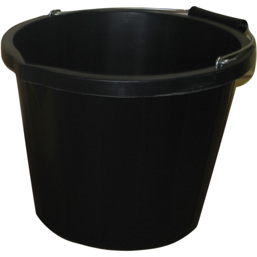 ProStable 3 Gallon Water Bucket Black