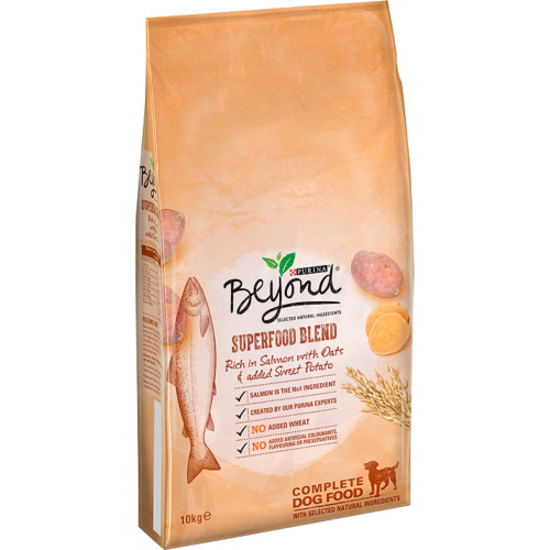 Purina Beyond Superfood Blend Salmon Oats & Sweet Potato Adult Dog Food 10kg