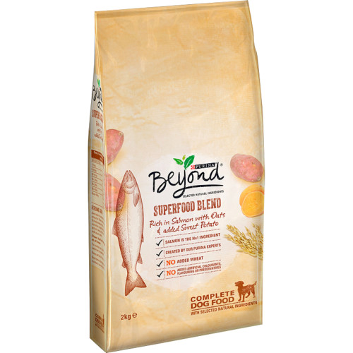 Purina Beyond Superfood Blend Salmon Oats & Sweet Potato Adult Dog Food 2kg