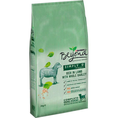 Purina Beyond Simply 9 Lamb & Barley Adult Dog Food 2kg