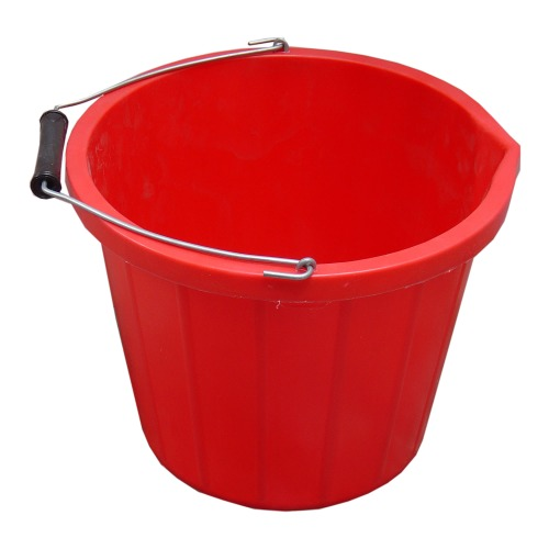 ProStable 3 Gallon Water Bucket Red