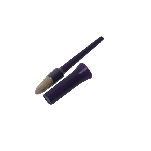 Bitz Hoof Oil Brush with Cap Green Purple