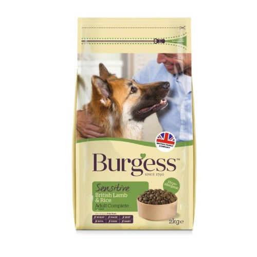 Burgess Complete Sensitive Lamb & Rice Adult Dog Food 2kg