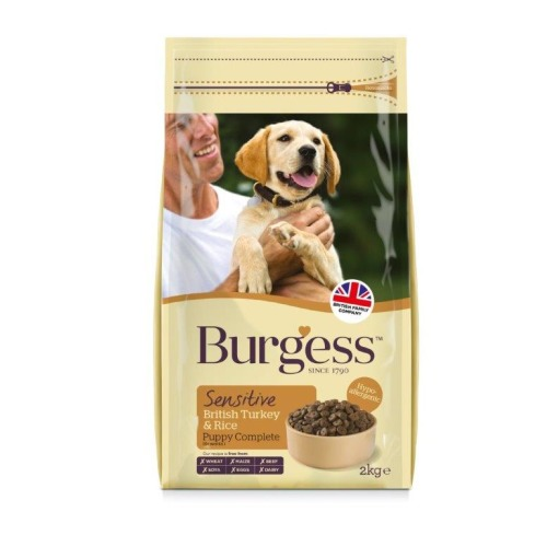 Burgess Complete Sensitive Turkey & Rice Puppy Dog Food 2kg