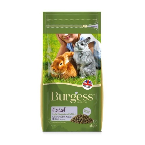 Burgess Excel Nuggets With Mint Light/Overweight Rabbit Food 2kg