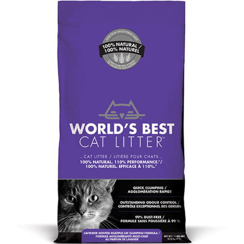 Worlds Best Cat Litter Lavender Clumping Formula 3.18kg