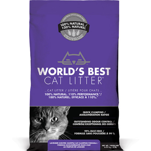Worlds Best Cat Litter Lavender Clumping Formula 6.35kg
