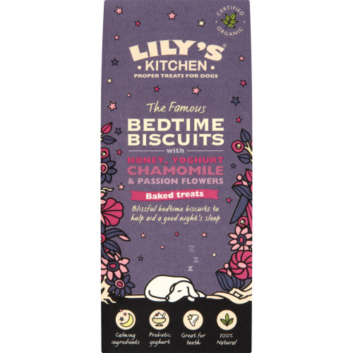 Lilys Kitchen The Famous Organic Bedtime Biscuits Dog Treats 100g