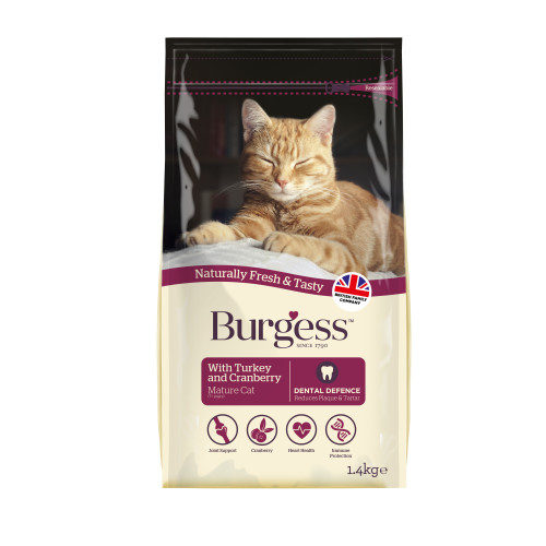 Burgess Complete Mature Turkey & Cranberry Cat Food 1.4kg