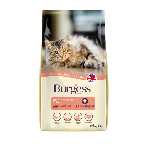 Burgess Complete Scottish Salmon Adult Cat Food 10kg
